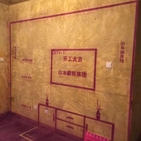 信达枫丹阁-黄墙紫地/3D全景放样-山水装饰