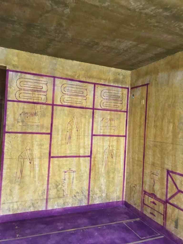 海亮九玺南区-黄墙紫地/3D全景放样-山水装饰