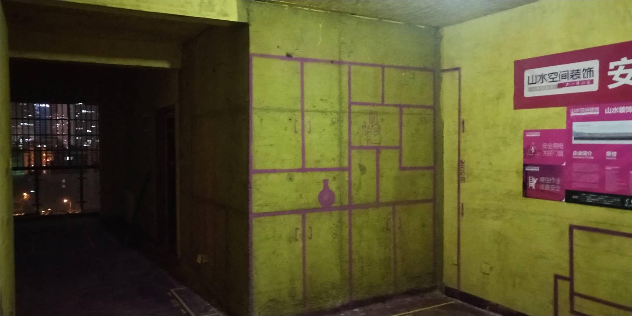 望湖城紫桂苑-黄墙紫地/3D全景放样-山水装饰