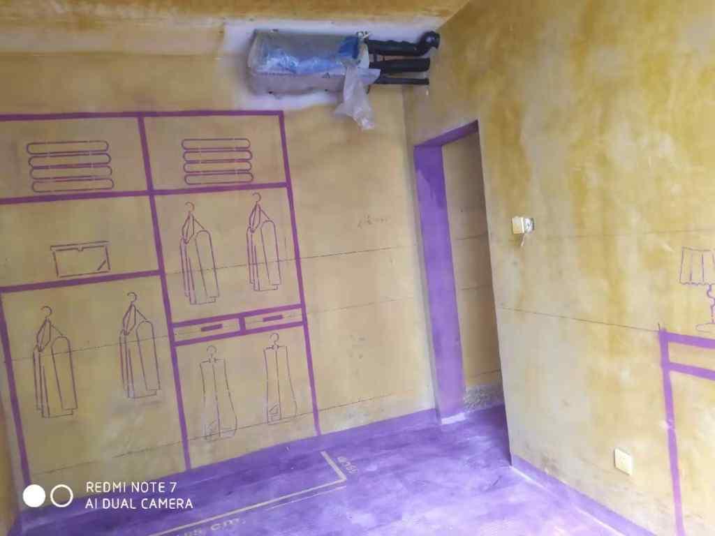 蓝天花园-黄墙紫地/3D全景放样-山水装饰