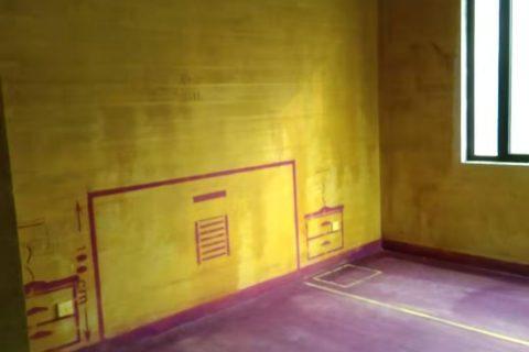 绿城桂花园-黄墙紫地/3D全景放样-山水装饰