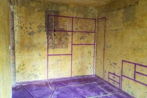 市委大院-黄墙紫地/3D全景放样-山水装饰