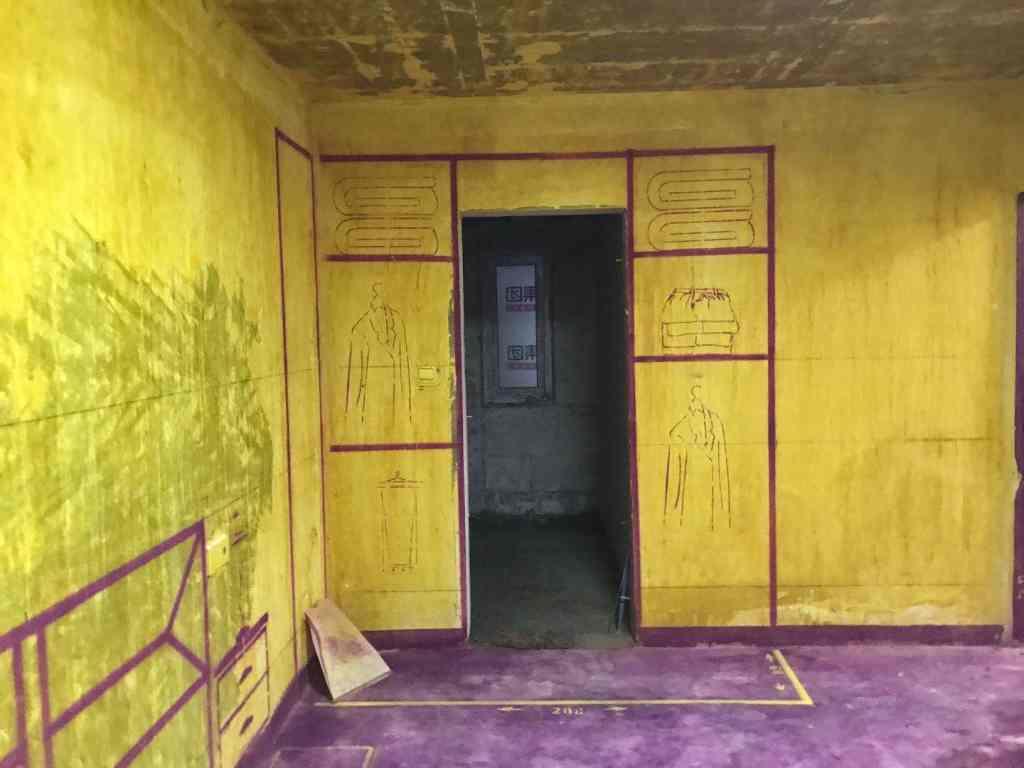 万科森林公园嘉庭-黄墙紫地/3D全景放样-山水装饰