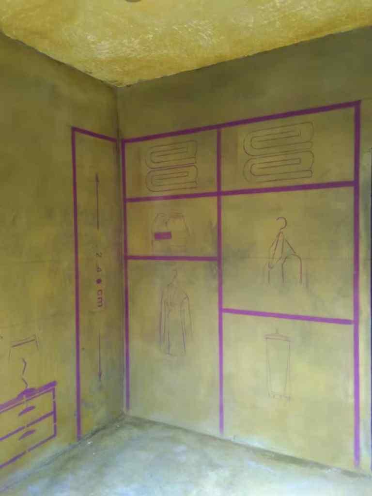 省建设大院宿舍-黄墙紫地/3D全景放样-山水装饰