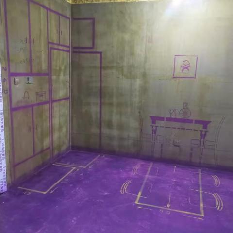 时代倾城-黄墙紫地/3D全景放样-山水装饰