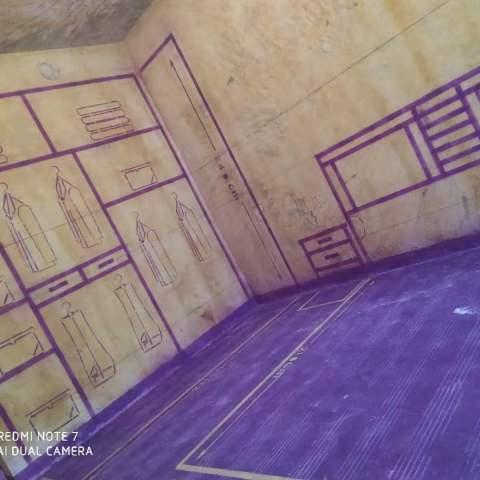 中环紫荆公馆-黄墙紫地/3D全景放样-山水装饰