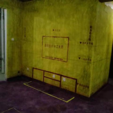 万达华府-黄墙紫地/3D全景放样-山水装饰