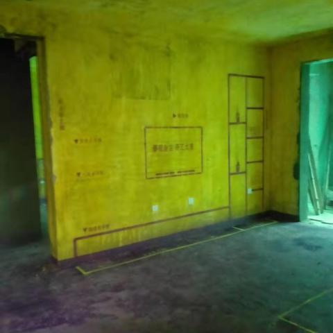 南七里御水园-黄墙紫地/3D全景放样-山水装饰