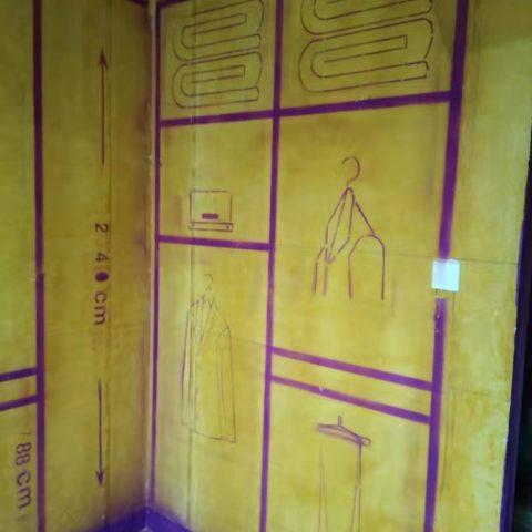 万科红郡一期-黄墙紫地/3D全景放样-山水装饰
