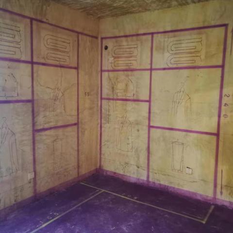绿城百合-黄墙紫地/3D全景放样-山水装饰