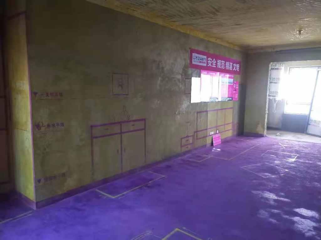 滨湖高速时代公馆-黄墙紫地/3D全景放样-山水装饰