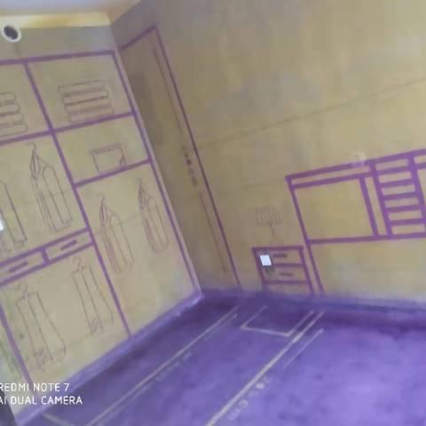 公园里-黄墙紫地/3D全景放样-山水装饰