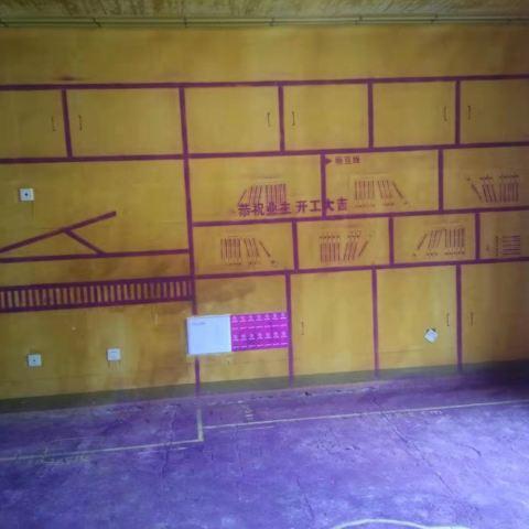 中海世家-黄墙紫地/3D全景放样-山水装饰