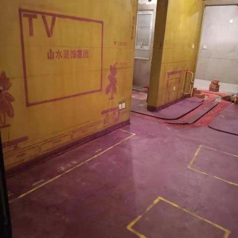 信达公园里-黄墙紫地/3D全景放样-山水装饰