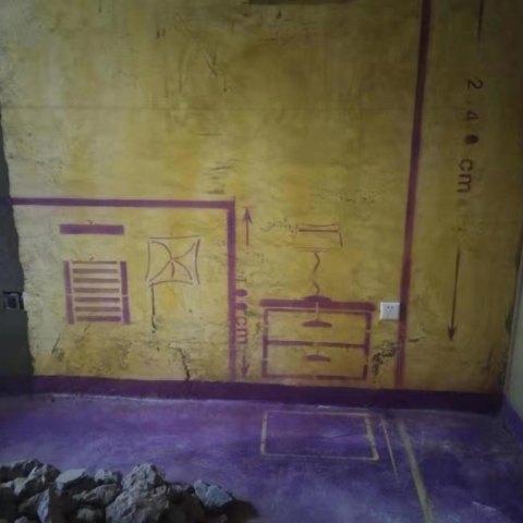 南七里澜山园-黄墙紫地/3D全景放样-山水装饰