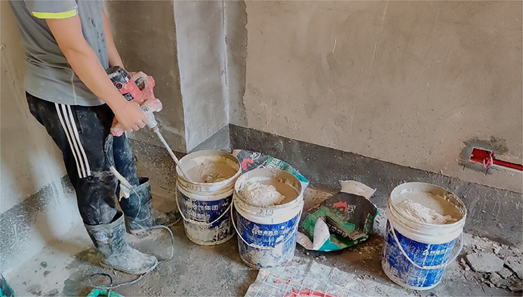 聊城石膏基自流平地暖回填材料 高流动性高保 地面工程基层找平砂浆 丝买建材