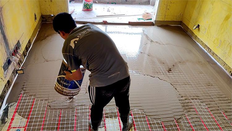 江苏地面找平地暖回填砂浆 地暖回填材料 地面工程基层找平砂浆 安徽丝买建材