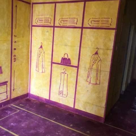 榆林桥畔二期-黄墙紫地/3D全景放样-山水装饰