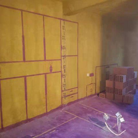 融福园-黄墙紫地/3D全景放样-山水装饰