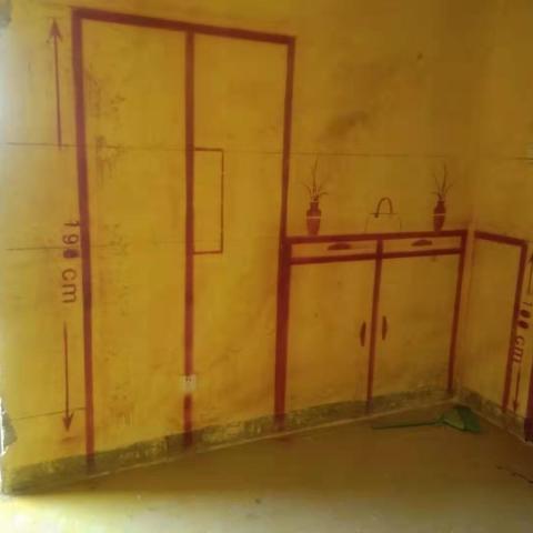 工商管理宿舍-黄墙紫地/3D全景放样-山水装饰