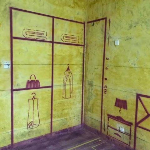 金色梧桐-黄墙紫地/3D全景放样-山水装饰
