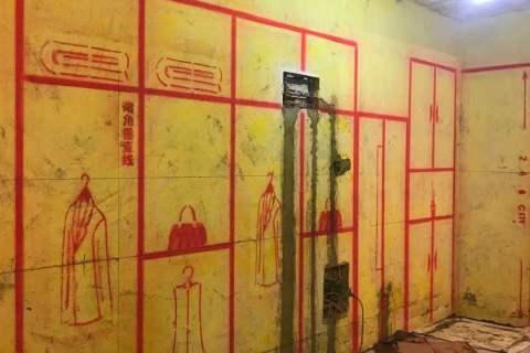 玉兰公寓-黄墙绿地/3D全景放样/成品保护-金艺堂装饰
