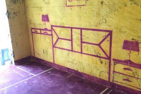 滨湖欣园-黄墙紫地/3D全景放样-山水装饰