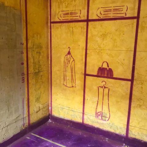 电信局小区-黄墙紫地/3D全景放样-山水装饰