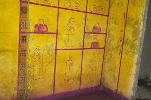 华南城锦园-黄墙紫地/3D全景放样-山水装饰