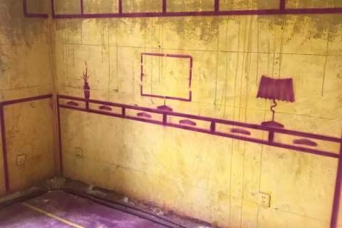 望湖城日桂苑-黄墙紫地/3D全景放样-山水装饰