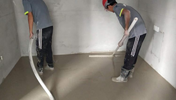 使用石膏基自流平地暖回填找平施工方法详解